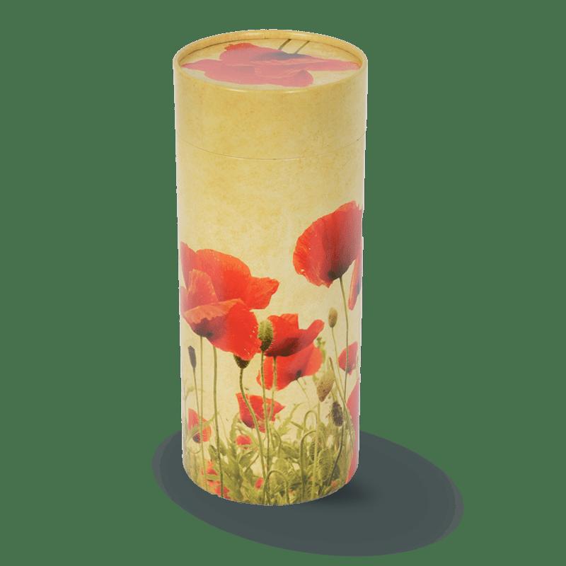 Urne coquelicot
